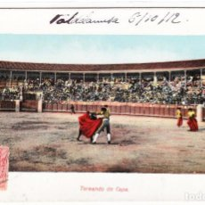 Postales: TARJETA POSTAL EDICIÓN E. RAMOS MADRID TOREANDO DE CAPA CIRCULADA. Lote 248431130