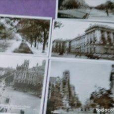 Postales: LOTE 8 POSTALES MADRID ESPAÑOLA DE LIBRERIA RECOLETOS CIBELES SALON DEL PRADOPALACIO REAL ALCALA BA. Lote 248732160