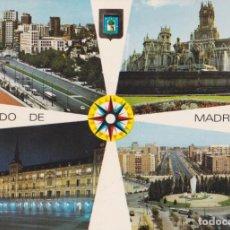 Cartoline: MADRID, AVDA. DEL GENERALISIMO, PLAZA MAYOR, PLAZA CASTILLO – ESCUDO DE ORO Nº117 – S/C. Lote 248975385