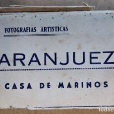 Postales: POSTAL DESPLEGABLE ACORDEON 12 FOTOGRAFIAS MINI POSTALES ARTISTICAS ARANJUEZ CASA DE MARINOS. Lote 249254975