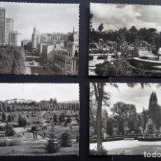 Postales: MADRID, 4 POSTALES SIN CIRCULAR DE LOS AÑOS 50. Lote 252117110