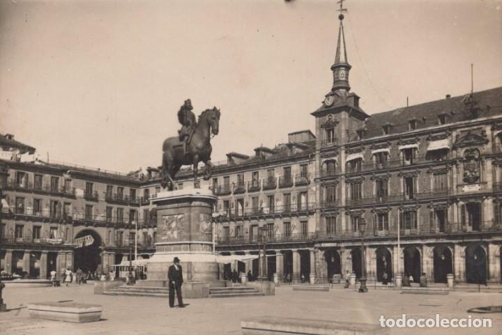 POSTAL MADRID - PLAZA MAYOR - FOTOGRAFIA (Postales - España - Comunidad de Madrid Antigua (hasta 1939))