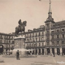 Postales: POSTAL MADRID - PLAZA MAYOR - FOTOGRAFIA. Lote 252129375