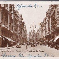 Cartes Postales: MADRID, GRAN VIA. ED. SOCIEDAD GENERAL ESPAÑOLA DE LIBRERIA Nº 114. FOTOGRAFICA. CIRCULADA. Lote 252542960