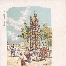 Cartes Postales: MADRID, FUENTE EN PUENTE TOLEDO. ED. LIT. LABELLE BARCELONA, SERIE 1º Nº 4. REVERSO SIN DIVIDIR. Lote 252547280