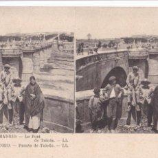 Cartes Postales: MADRID, PUENTE DE TOLEDO. ED. LL Nº 1. POSTAL ESTEROSCOPICA FRANCESA SIN CIRCULAR. Lote 252548720