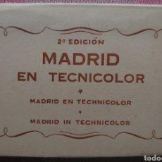 Postales: MADRID EN TECNICOLOR TIRA DE 10 POSTALES 10 X 15 CTMS.. Lote 252948035