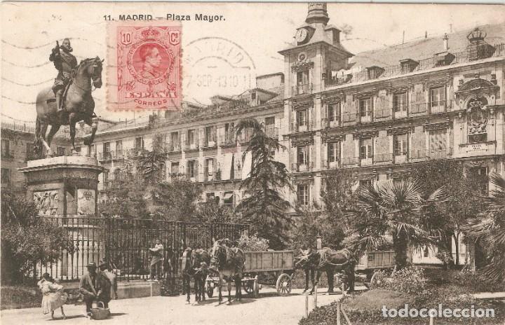 MADRID Nº 11 PLAZA MAYOR LACOSTE CIR. EN 1928 (Postales - España - Comunidad de Madrid Antigua (hasta 1939))
