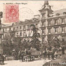 Postales: MADRID Nº 11 PLAZA MAYOR LACOSTE CIR. EN 1928. Lote 253104325