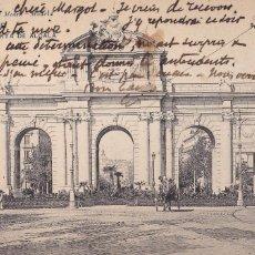 Postales: MADRID, PUERTA DE ALCALA. ED. HAUSER Y MENET Nº 30. REVERSO SIN DIVIDIR. CIRCULADA EN 1907. Lote 253184720