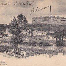 Postales: MADRID, EL MANZANARES. ED. HAUSER Y MENET Nº 90. REVERSO SIN DIVIDIR. CIRCULADA EN 1905. Lote 253185100