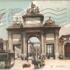 Postales: MADRID 68 PUERTA DE TOLEDO L.L. CIRC. EN 1911. Lote 254313660