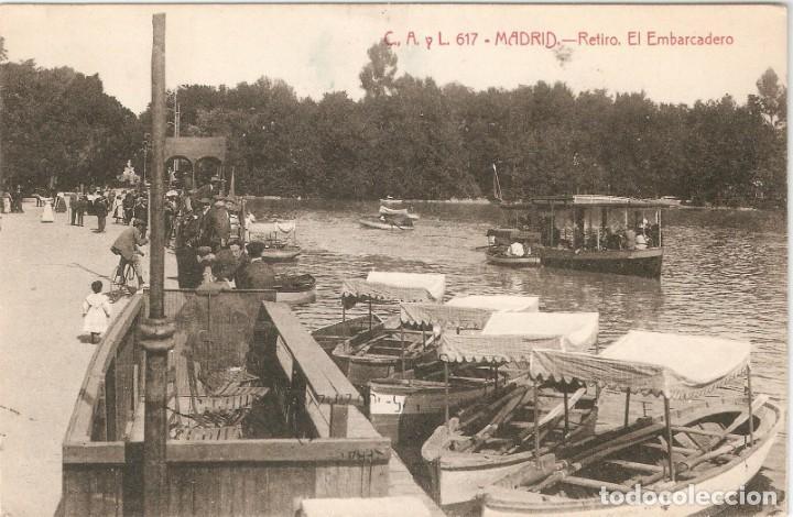 MADRID Nº 617 RETIRO. EL EMBARCADERO C.A. Y L. CIRC. (Postales - España - Comunidad de Madrid Antigua (hasta 1939))