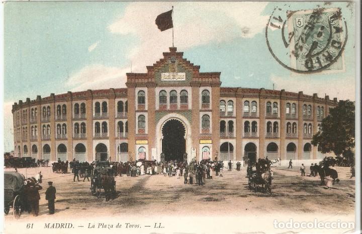 MADRID 61 PLAZA DE TOROS L.L. CIRCULADA EN 1912 (Postales - España - Comunidad de Madrid Antigua (hasta 1939))