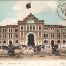 Postales: MADRID 61 PLAZA DE TOROS L.L. CIRCULADA EN 1912. Lote 254347655