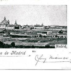 Postales: SALUDOS DE MADRID CON PELON Y MATASELLOS DEL 30-01-1900. Lote 254378685