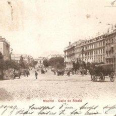 Postales: MADRID Nº 10162 CALLE DE ALCALÁ P.Z. CIRC. EN 1905. Lote 254386855