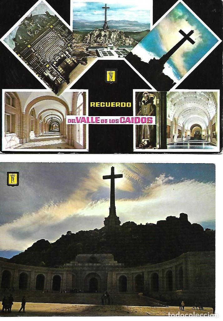 PAREJA ANTIGUA POSTALES CIRCULADAS DEL VALLE DE LOS CAIDOS (Postales - España - Madrid Moderna (desde 1940))