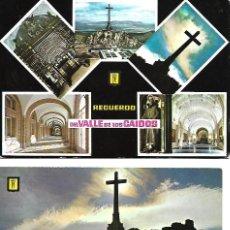 Postales: PAREJA ANTIGUA POSTALES CIRCULADAS DEL VALLE DE LOS CAIDOS. Lote 257555130
