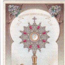 Cartes Postales: MADRID, RECUERDO DE LA S. FORMA DE EL ESCORIAL, CUSTODIA DE ISABEL II. BYN COLOREADA. SIN CIRCULAR. Lote 258014960