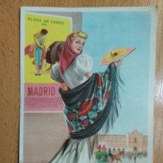 Cartoline: TARJETA POSTAL TRAJE TIPICO PLAZA DE TOROS MADRID ILUSTRADOR J. BRIONES. Lote 259298795