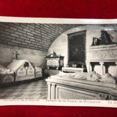 Postales: POSTAL 11. MONASTERIO DEL ESCORIAL - PANTEÓN DE LOS DUQUES DE MONTPENSIER. Lote 260399035