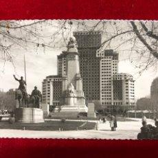 Postales: POSTAL 78.- MADRID: PLAZA DE ESPAÑA. MONUMENTO A CERVANTES. Lote 260409795
