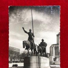 Postales: POSTAL 188.- MADRID: MONUMENTO A CERVANTES. DON QUIJOTE Y SANCHO PANZA. Lote 260410105