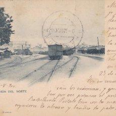 Cartes Postales: MADRID, ESTACION DEL NORTE. ED. HAUSER Y MENET Nº 314. REVERSO SIN DIVIDIR, SELLO PELON, VER REVERSO. Lote 260572575