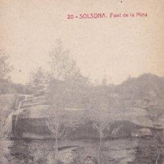 Cartes Postales: LLEIDA, SOLSONA, FONT DE LA MINA. ED. FOTOTIPIA THOMAS Nº 20. SIN CIRCULAR. Lote 260573305