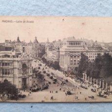 Postales: MADRID. CALLE DE ALCALÁ. TRASERA CON PUBLICIDAD FIESTA 1927.. Lote 261345745