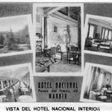 Postales: MADRID.-HOTEL NACIONAL, SIN CIRCULAR, FT, MARTORELL JMOLINA1946. Lote 262196490