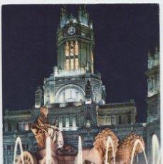 Postales: Nº 221-MADRID. PUENTE DE LA CIBELES Y PALACIO DE COMUNICACIONES. CIRCULADA EN 1965. ED. BEASCOA. Lote 262282910