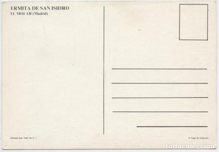 Postales: EL MOLAR. Madrid. Ermita de San Isidro. Sin circular. 1977. ED. AZUL - Foto 2 - 262921095