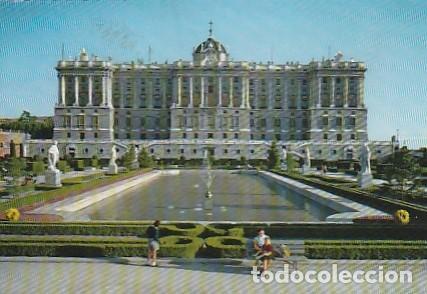 ESPANA & CIRCULADO, MADRID, FACHADA NORTE DEL PALACIO REAL, LISBOA PORTUGAL 1963 (15) (Postales - España - Madrid Moderna (desde 1940))