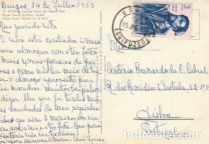 Postales: Espana & Circulado, Madrid, Fachada Norte del Palacio Real, Lisboa Portugal 1963 (15) - Foto 2 - 262961285
