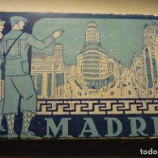 Postales: CARPETA DESPLEGABLE POSTALES MADRID AÑOS 3O-COLOR MARRON HELIOGRAFICA ESPAÑOLA CM. Lote 262974295