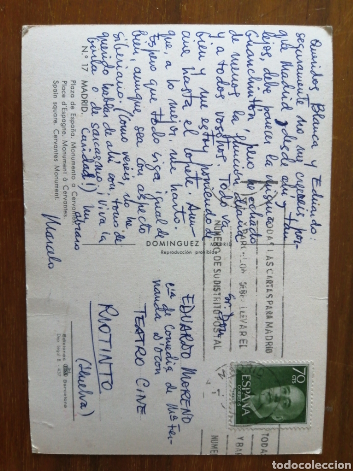 Postales: POSTAL MADRID PLAZA DE ESPAÑA - Foto 2 - 262994175