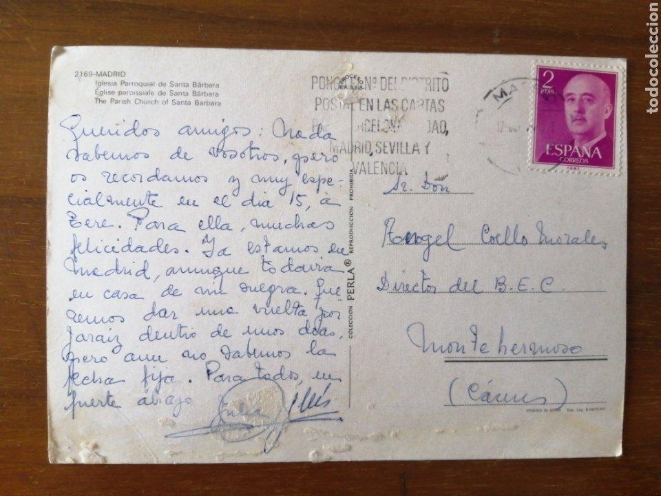 Postales: POSTAL MADRID IGLESIA SANTA BARBARA - Foto 2 - 262994330