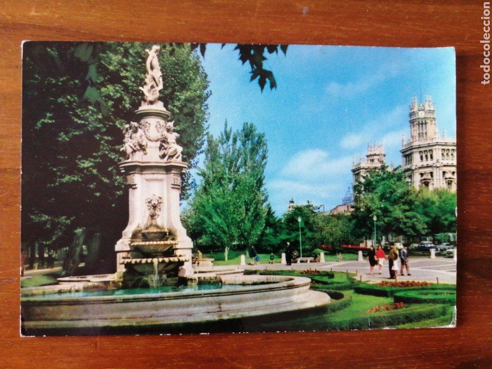 POSTAL MADRID FUENTE DE APOLO Y PALACIO DE COMUNICACIONES (Postales - España - Madrid Moderna (desde 1940))
