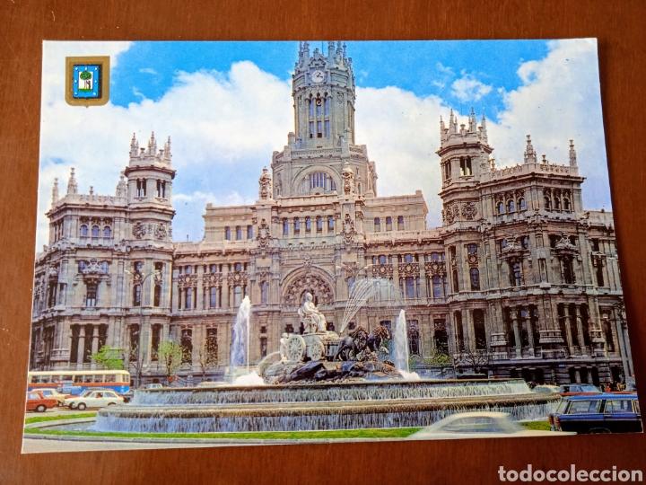 POSTAL MADRID. LA CIBELES Y PALACIO DE TELECOMUNICACIONES. SIN CIRCULAR. (Postales - España - Madrid Moderna (desde 1940))