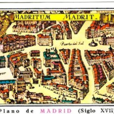 Postales: MADRITUM - MADRIT - PLANO DE MADRID SIGLO XVII - 152X104 MM.. Lote 263036645