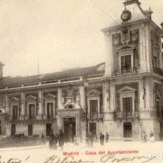 Postales: POSTAL ANTIGUA-MADRID -CASA DEL AYUNTAMIENTO-CIRCULADA Y SIN DIVIDIR. Lote 263071135