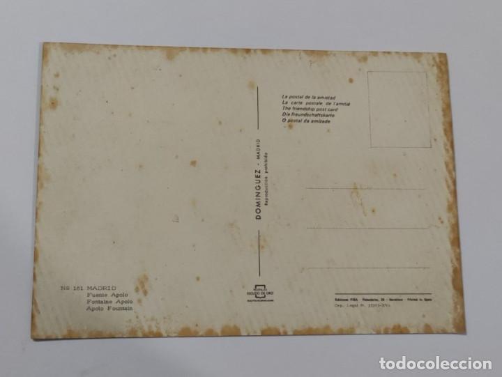 Postales: POSTAL MADRID FUENTE APOLO. Nº 181 - Foto 2 - 265788724