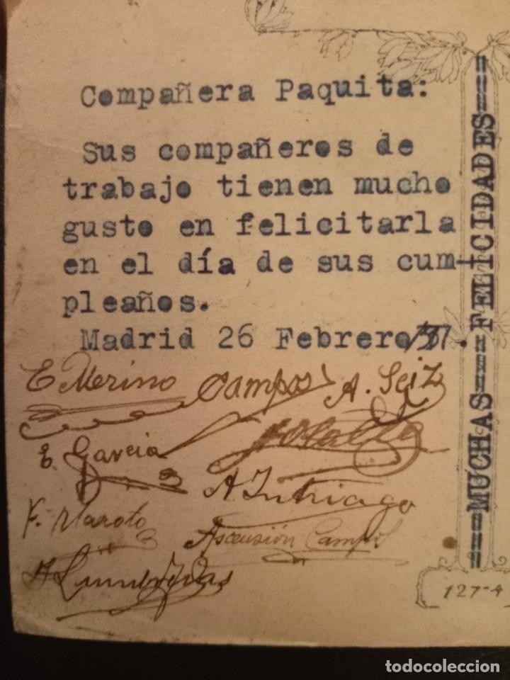 Postales: Tarjeta postal de 1937 - Foto 2 - 267129439