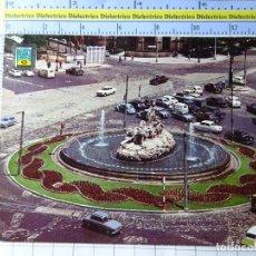 Postais: POSTAL DE MADRID. AÑO 1964. ESTATUA DE LA CIBELES. COCHES CITROEN TIBURÓN, SEAT 600. 1660. Lote 267295919