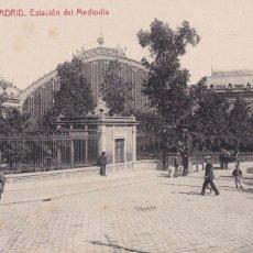 Postais: MADRID ESTACION DEL MEDIODIA. ED. FOTOTIPIA THOMAS Nº 12. ESCRITA. Lote 267825909