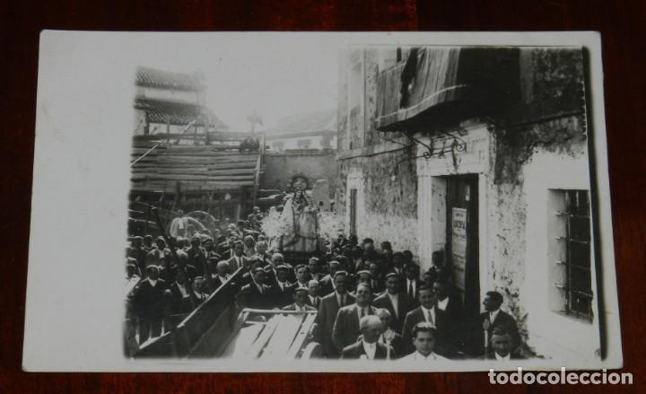 FOTO POSTAL DE PROCESION EN HONOR A LA VIRGEN DE LA FUENSANTA, LOZOYA, MADRID, FOTO VANDEL, MUY RARA (Postales - España - Comunidad de Madrid Antigua (hasta 1939))