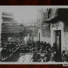 Postales: FOTO POSTAL DE PROCESION EN HONOR A LA VIRGEN DE LA FUENSANTA, LOZOYA, MADRID, FOTO VANDEL, MUY RARA. Lote 268134904