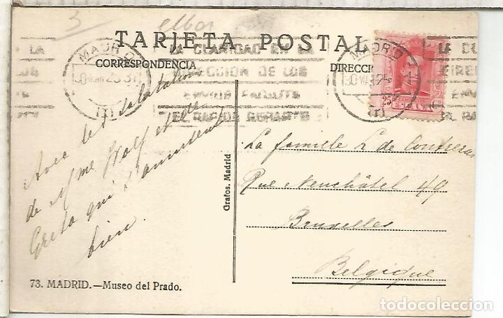 Postales: MADRID MUSEO DEL PRADO ESCRITA - Foto 2 - 268798214
